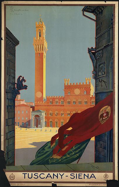 Tuscany Siena poster