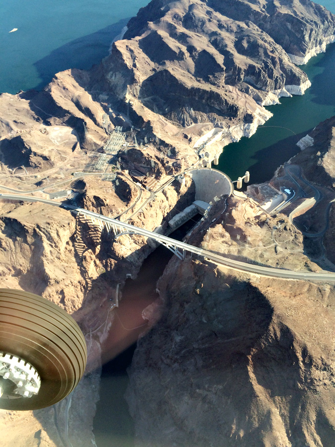Grand Canyon flight over Hoover Dam